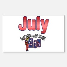 Born on the 4th of July Sticker (Rectangle)