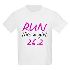 Run Like a Girl 26.2 T-Shirt