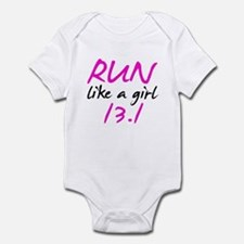 Run like a girl 13.1 Infant Bodysuit