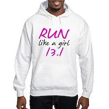 Run like a girl 13.1 Hoodie