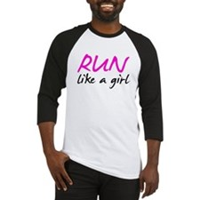 Run like a girl Baseball Jersey