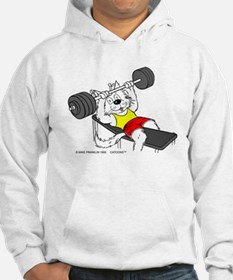Weight Lifter Cat Hoodie