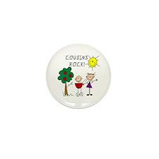Cousins Rock Four Mini Button (10 pack)