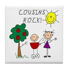 Cousins Rock Four Tile Coaster