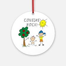 Cousins Rock Five Ornament (Round)