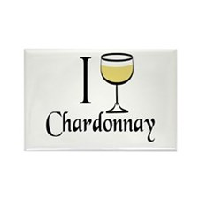 I Drink Chardonnay Rectangle Magnet