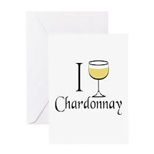 I Drink Chardonnay Greeting Card
