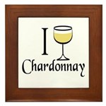 I Drink Chardonnay Framed Tile