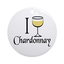 I Drink Chardonnay Ornament (Round)