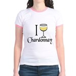 I Drink Chardonnay Jr. Ringer T-Shirt