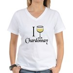 I Drink Chardonnay Women's V-Neck T-Shirt