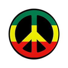 """Rasta Peace 3.5"""" Button"""