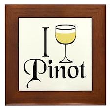 Pinot Wine Drinker Framed Tile