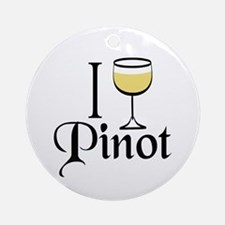 Pinot Wine Drinker Ornament (Round)