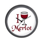 Merlot Drinker Wall Clock