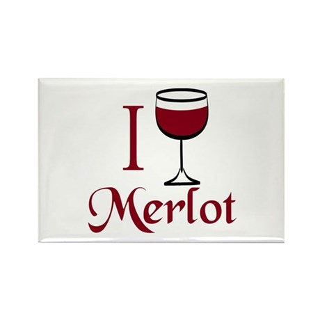 Merlot Drinker Rectangle Magnet (10 pack)