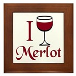 Merlot Drinker Framed Tile
