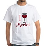 Merlot Drinker White T-Shirt