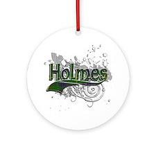 Holmes Tartan Grunge Ornament (Round)