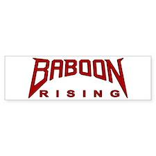 Baboon Rising Bumper Bumper Sticker