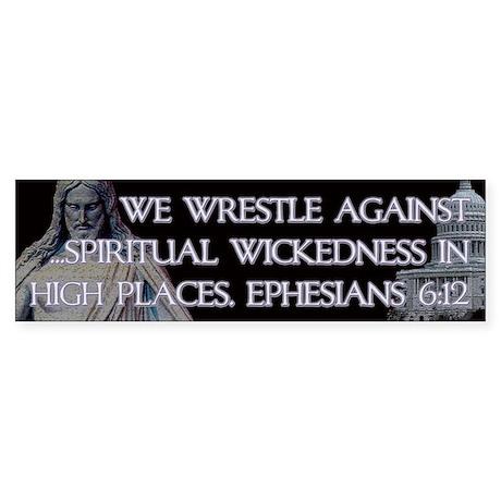 Ephesians 6:12 Sticker (Bumper)