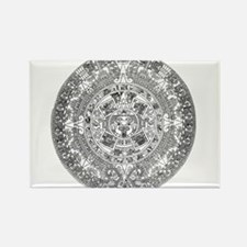 Aztec calendar Rectangle Magnet