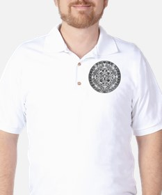 Aztec calendar Golf Shirt
