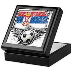 Soccer Fan Serbia Keepsake Box