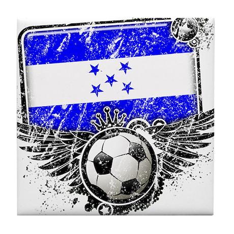 Soccer Fan Honduras Tile Coaster