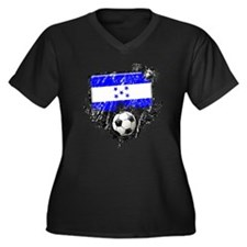Soccer Fan Greece Women's Plus Size V-Neck Dark T-