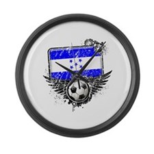 Soccer Fan Greece Large Wall Clock