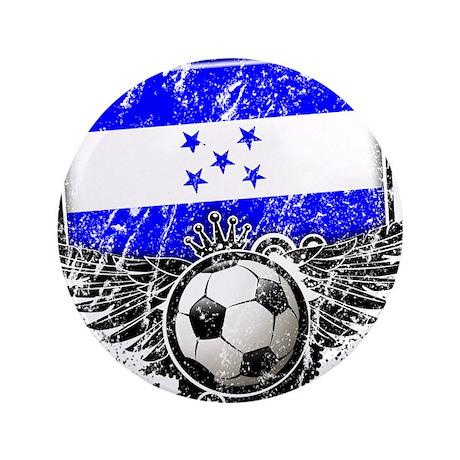 """Soccer Fan Greece 3.5"""" Button (100 pack)"""