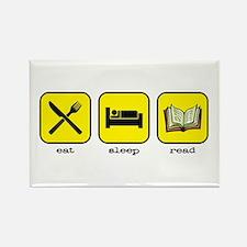 Eat, sleep, read Rectangle Magnet