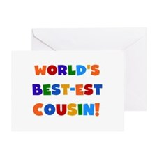 World's Best-est Cousin Greeting Card
