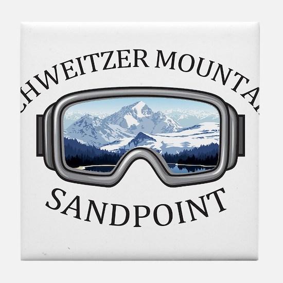 Schweitzer Mountain - Sandpoint - I Tile Coaster