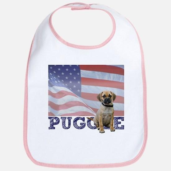 Patriotic Puggle Bib