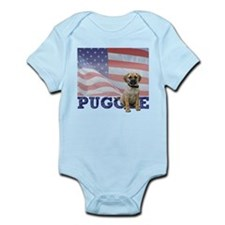Patriotic Puggle Infant Bodysuit