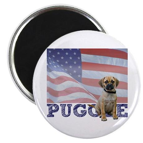 Patriotic Puggle Magnet