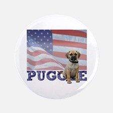 "Patriotic Puggle 3.5"" Button"