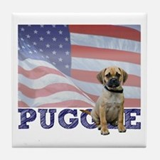 Patriotic Puggle Tile Coaster