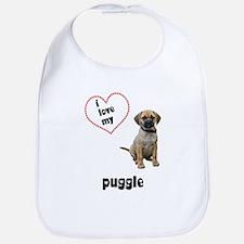Puggle Lover Bib