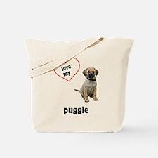 Puggle Lover Tote Bag