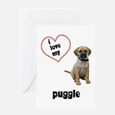 Puggle Lover Greeting Card
