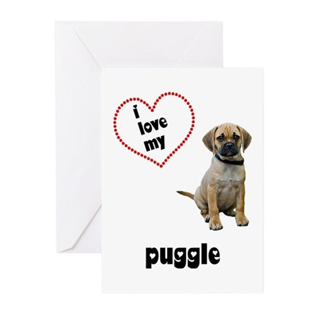 Puggle Lover Greeting Cards (Pk of 20)