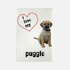Puggle Lover Rectangle Magnet