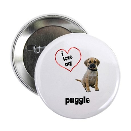 "Puggle Lover 2.25"" Button"
