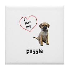 Puggle Lover Tile Coaster