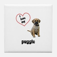 Puggle Lover Tile Coaster
