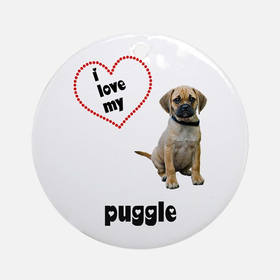 Puggle Lover Ornament (Round)