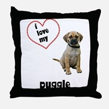 Puggle Lover Throw Pillow
